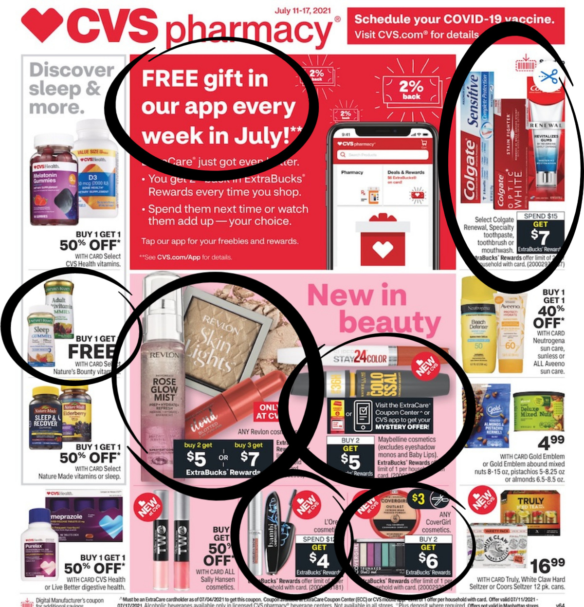 CVS ad scan page one