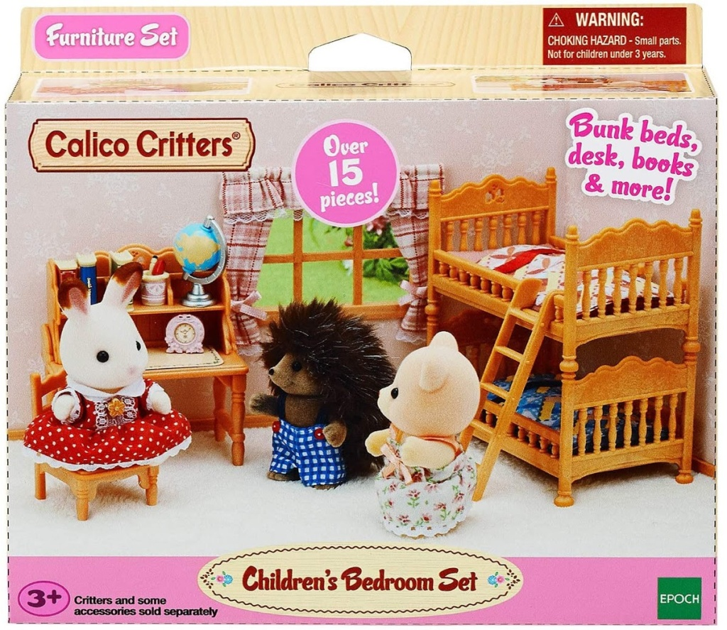 Calico Critters bedroom set in packaging