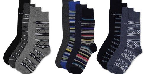 Calvin Klein Men's Dress Socks 4-Packs Only $4.96 on Macys.com (Regularly $24)