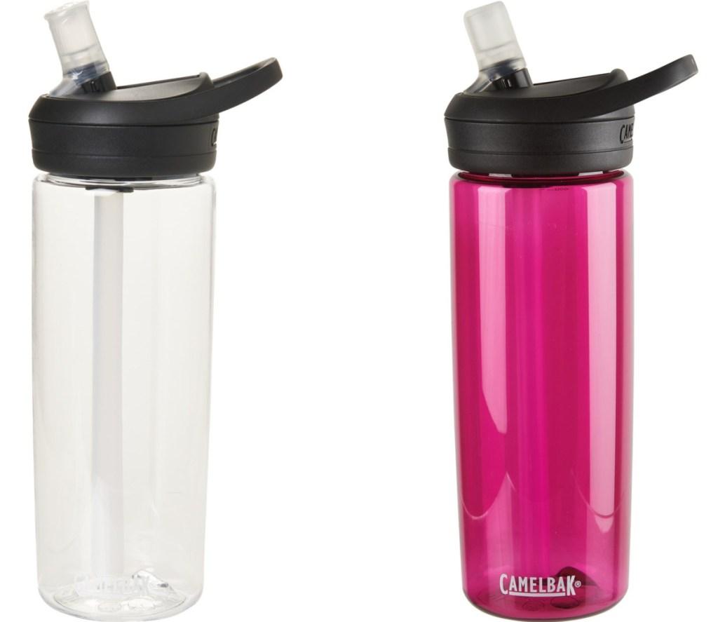 two plastic water bottles
