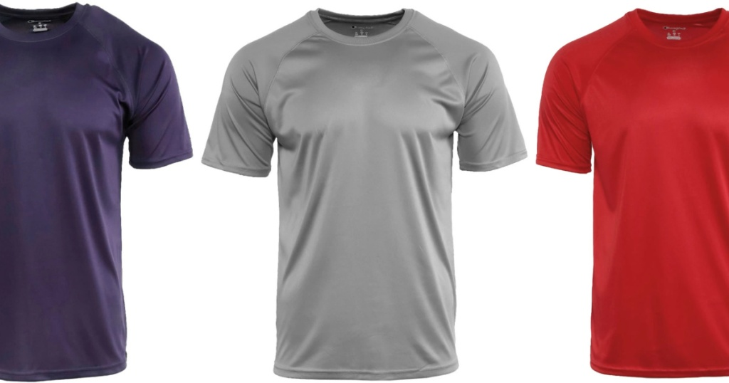 3 champion men's short sleeve tees