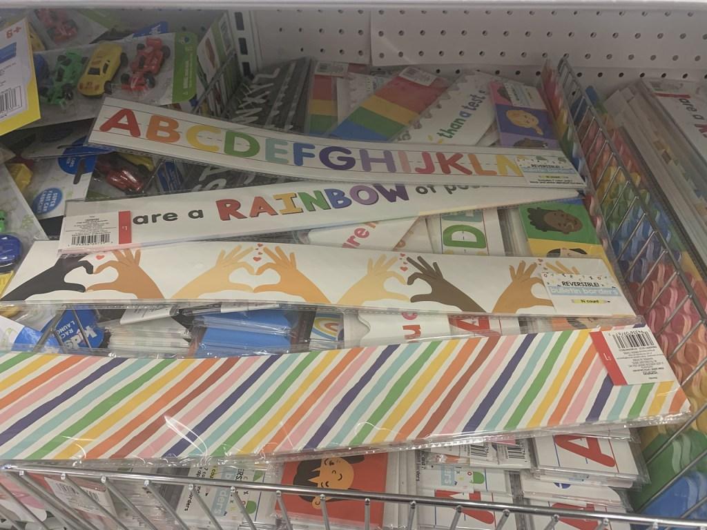Classroom Banners in store bin