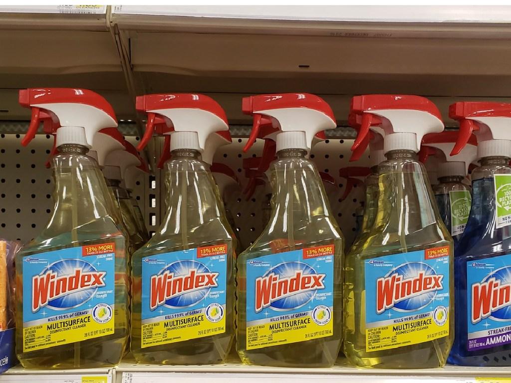 multiple bottles of windex