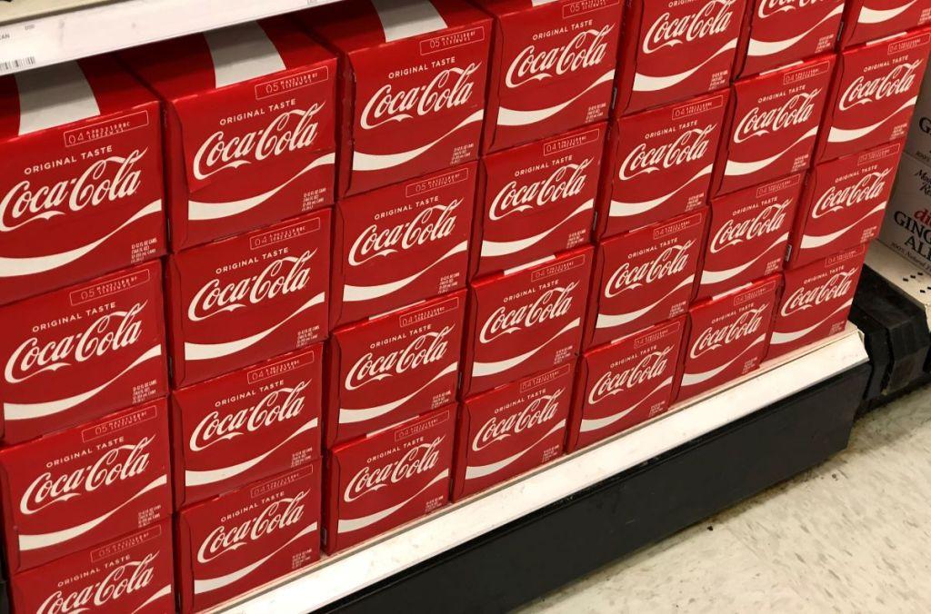 display of Coke 12-packs at Target