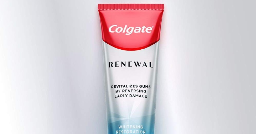 white and silver tube of toothpaste