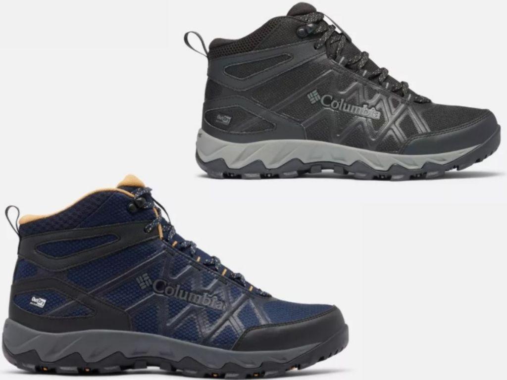 Columbia mens & women's hiking boots
