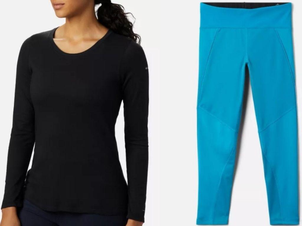 Columbia women's shirt and girls leggings