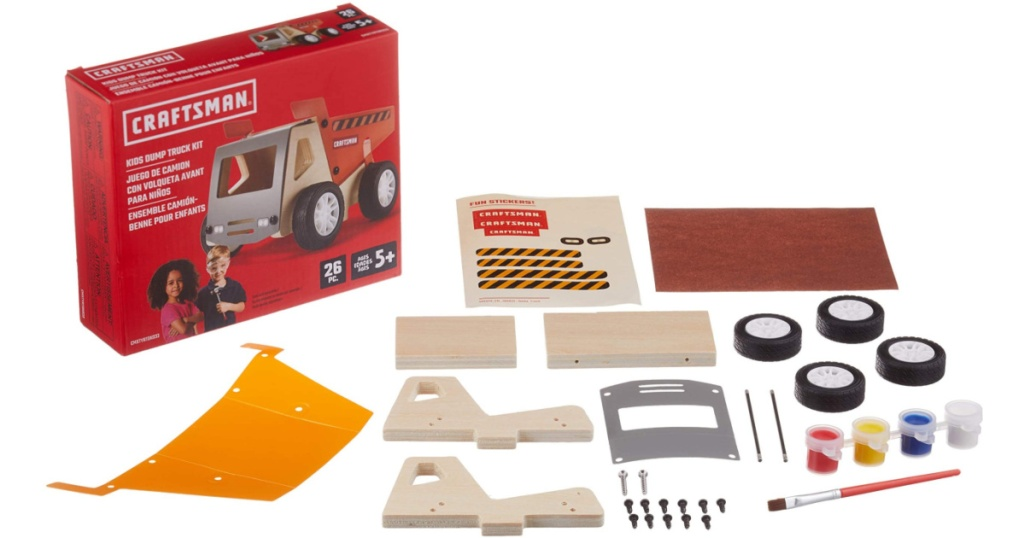 dump truck wood building kit
