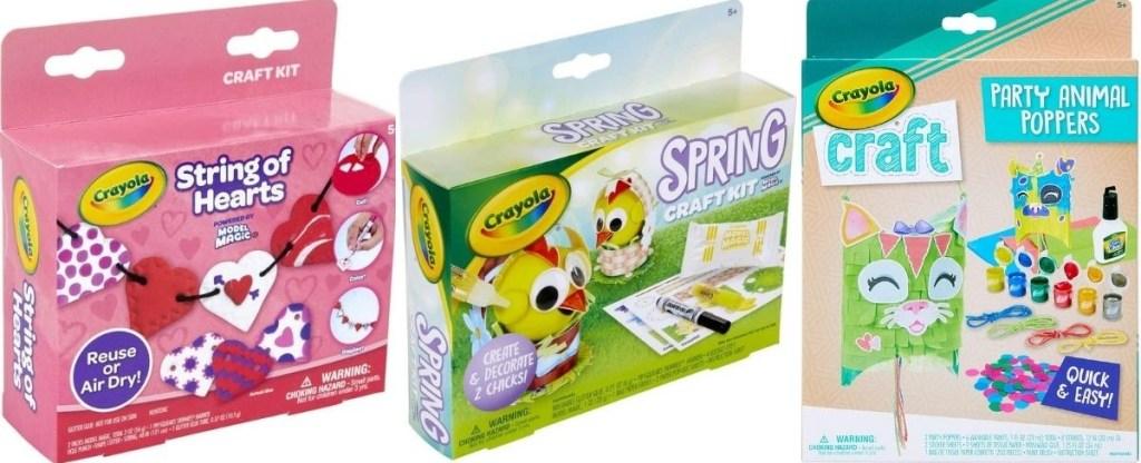 three Crayola Craft Kits