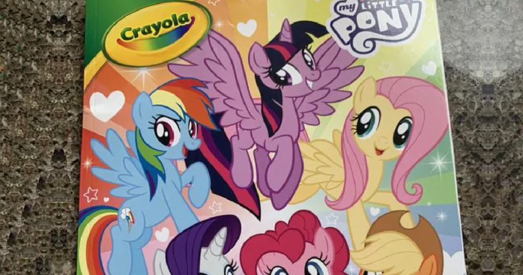 my little pony crayola coloring book