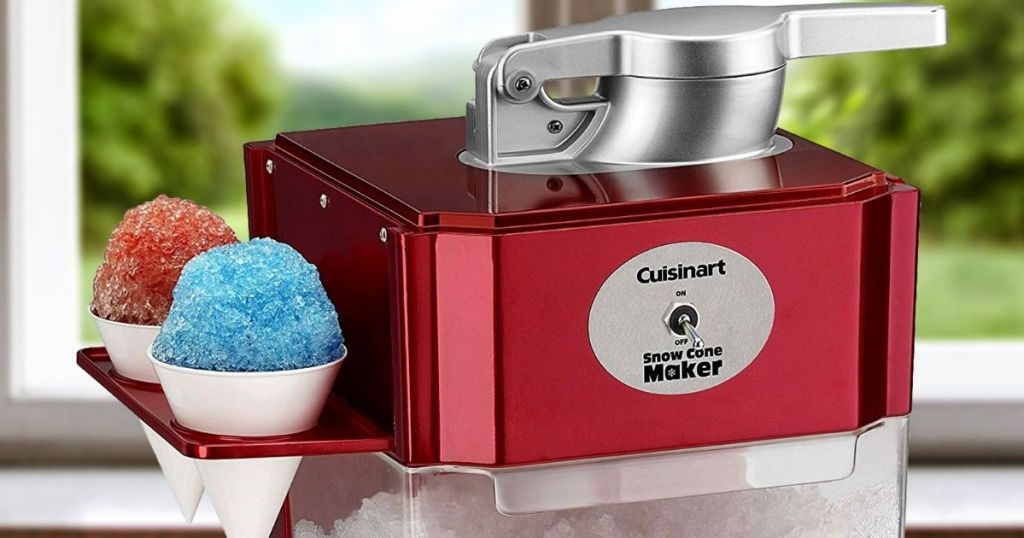 Cuisinart Snow Cone Maker with snow cones on it