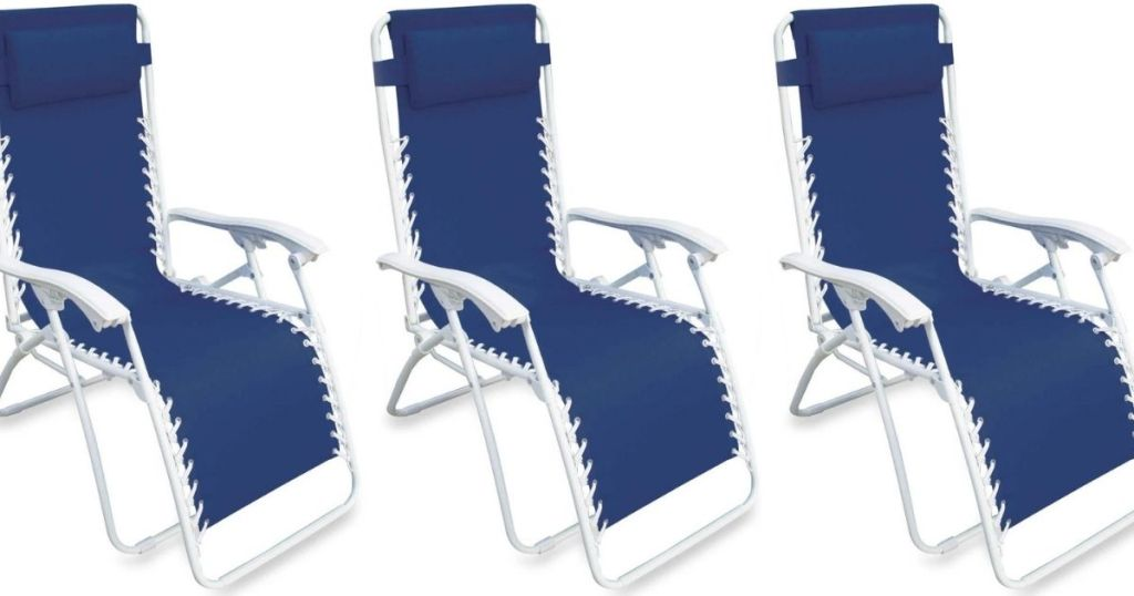 three zero gravity chairs