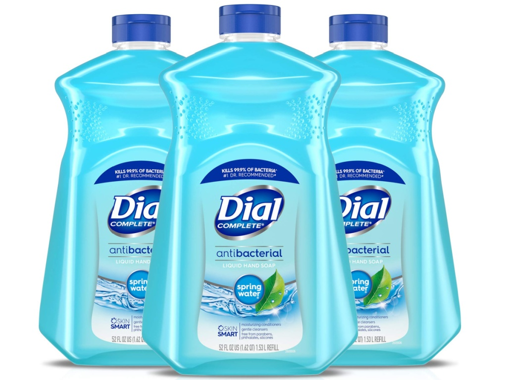3 big bottles of dial hand soap