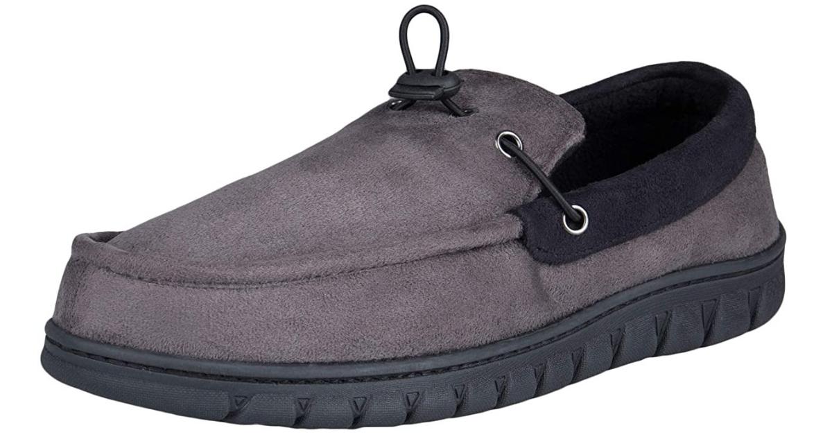 Dickies Men's Moccasin Slipper Venetian House Shoe With Indoor Outdoor Memory Foam Sole