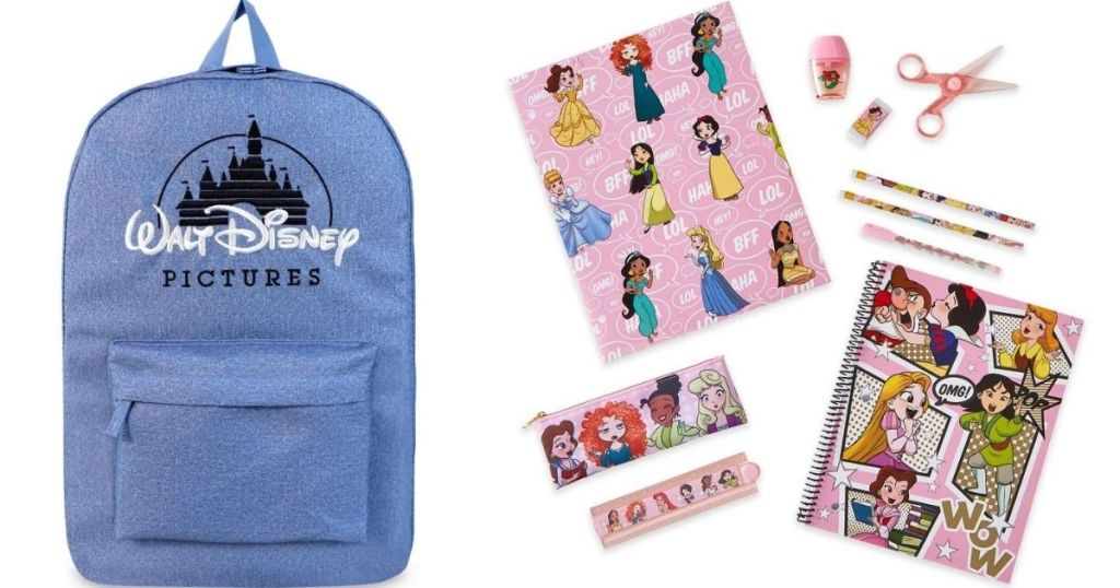 Disney Backpack and Stationary