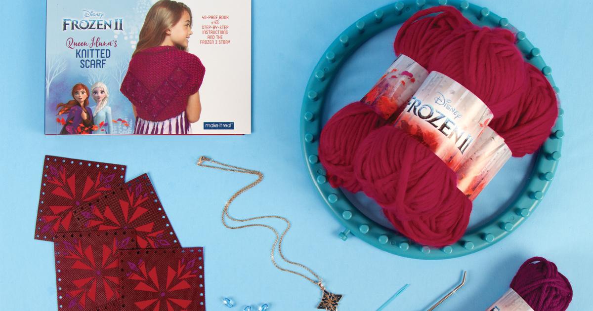 Disney Frozen 2 Queen Iduna's Knitted Shawl Kit