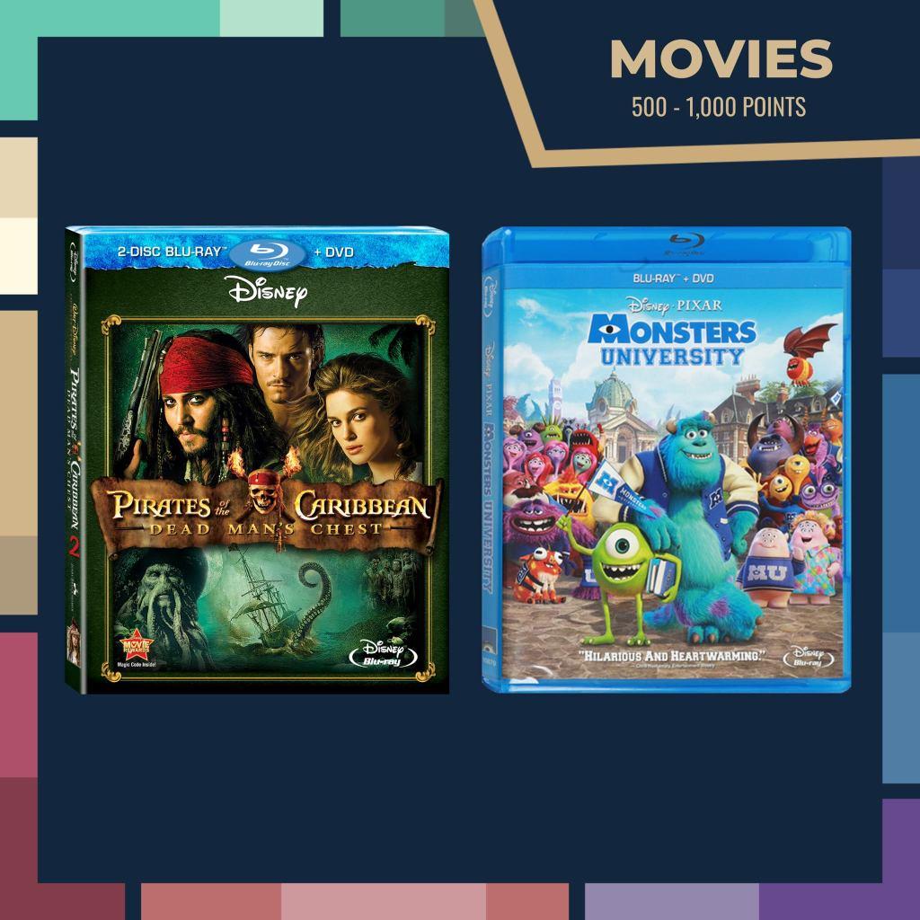 Disney Movie DVD rewards