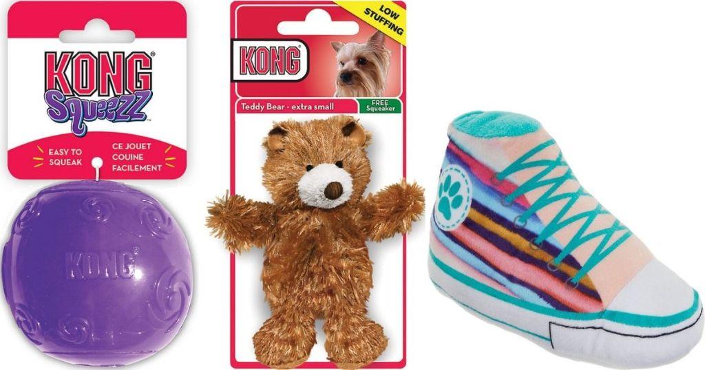 three Dog Toys