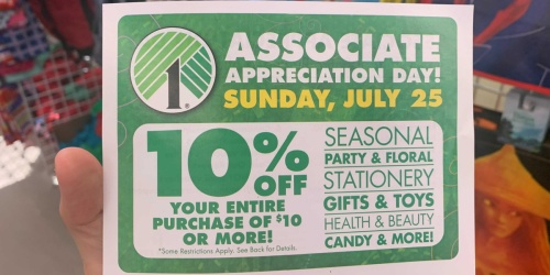 Dollar Tree Shoppers! Don't Miss This RARE 10% Off Coupon | Use on Sunday, July 25th Only