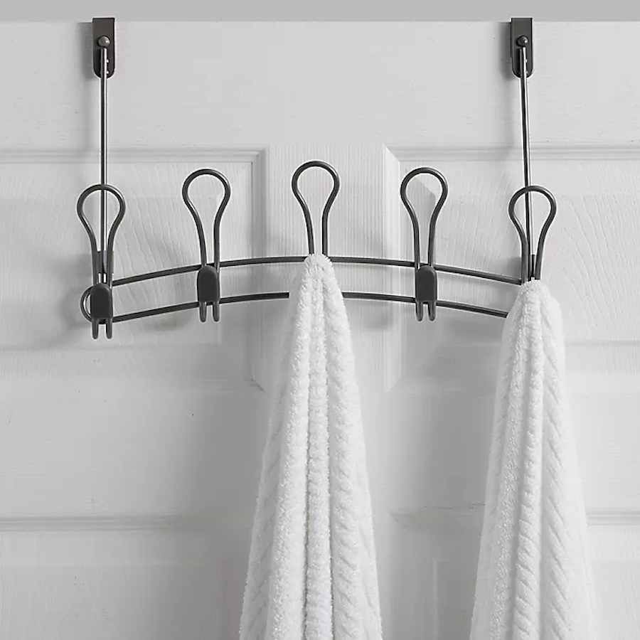 Door Hook with towels hanging on it