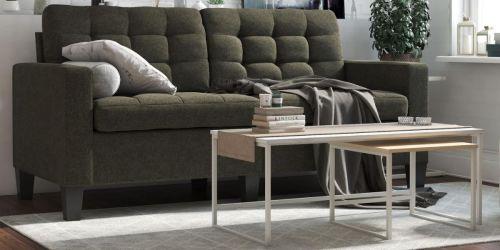 Dorel Living Upholstered Sofa Only $250 Shipped on Walmart.com (Regularly $385)