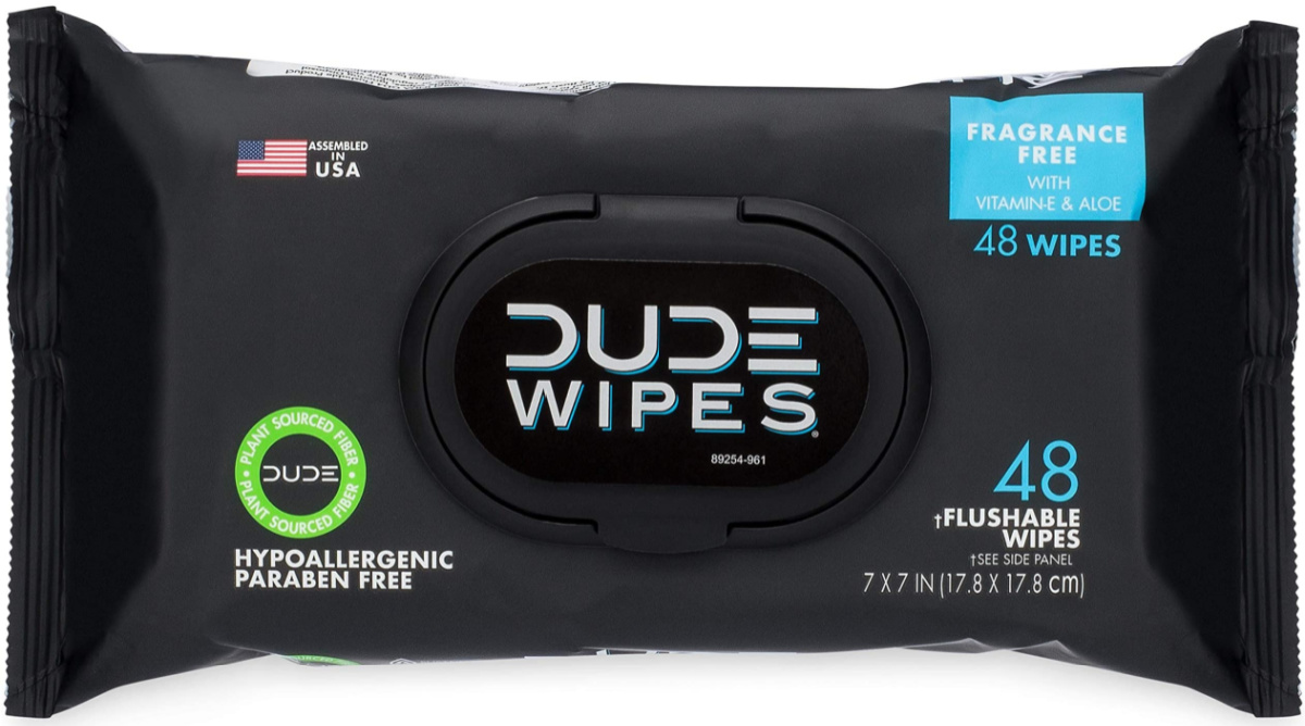 large package of DUDE wipes
