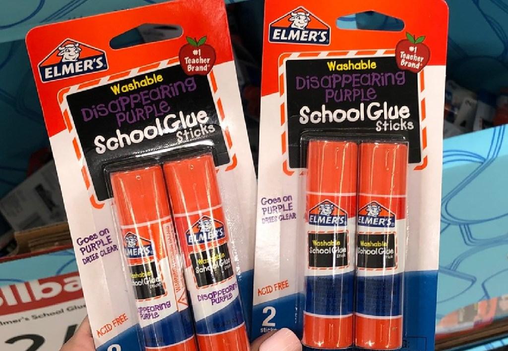Elmer's Disappearing Purple Washable School Glue Sticks 2-Count