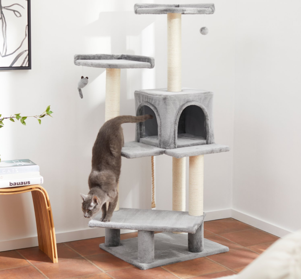 cat on a cat tower