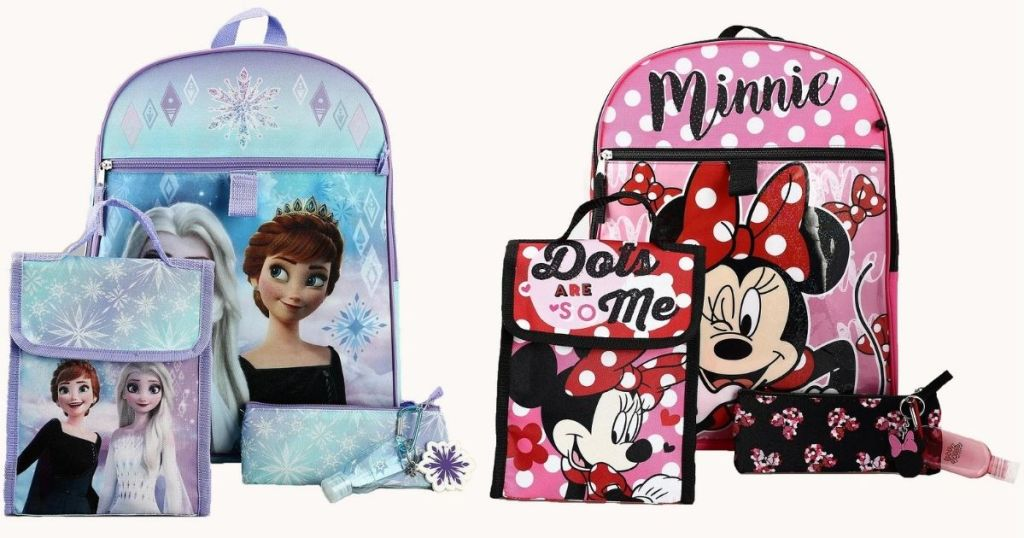 Frozen and Minnie Kids Backpack Sets