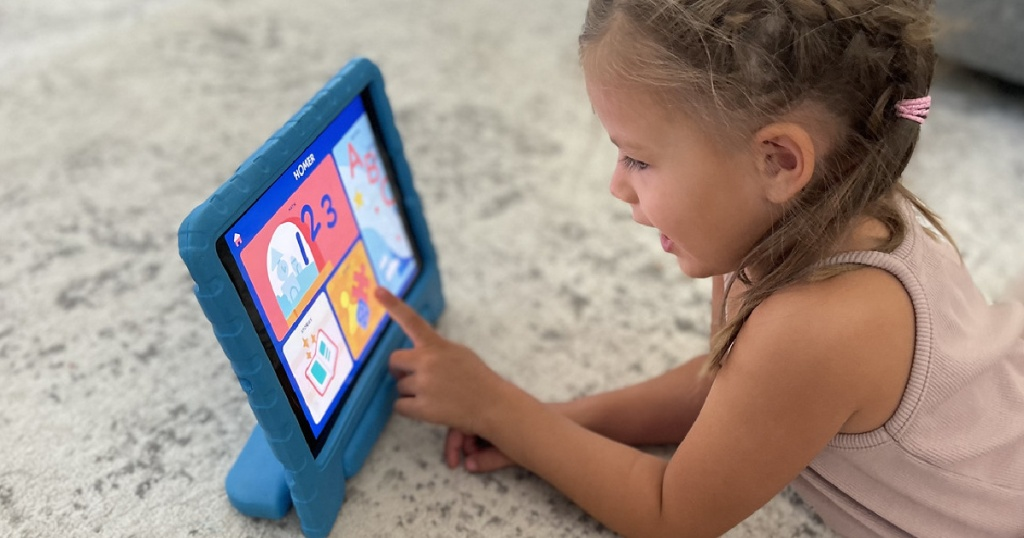 Girl Playing Homer Learning App on iPad