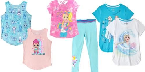 Girls Graphic Tops 2-Packs Only $6.59 on Walmart.com   Disney, L.O.L. Surprise! & JoJo Siwa