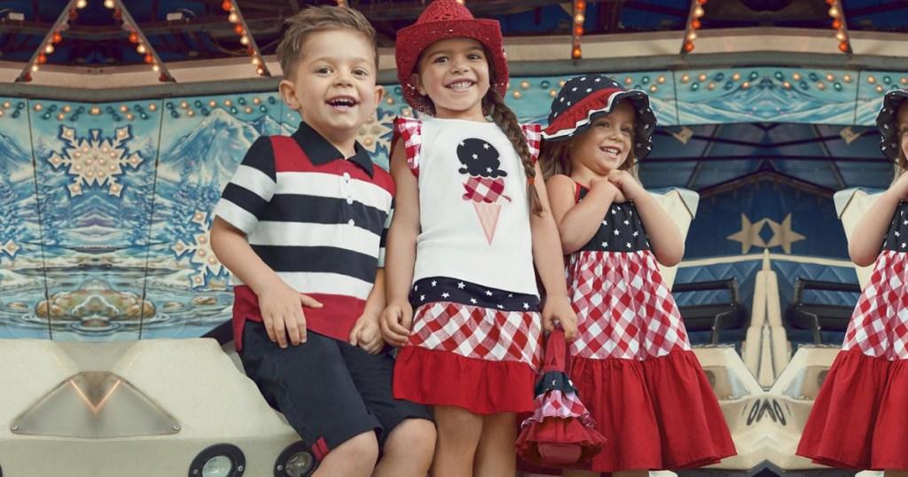 kids wearing gymboree patriotic apparel