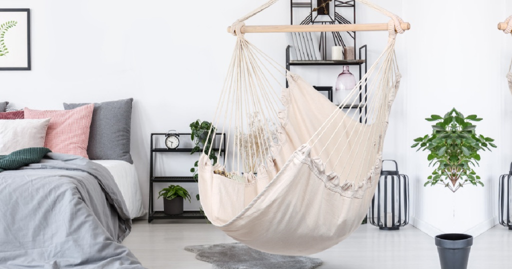 ivory hammock swing chair