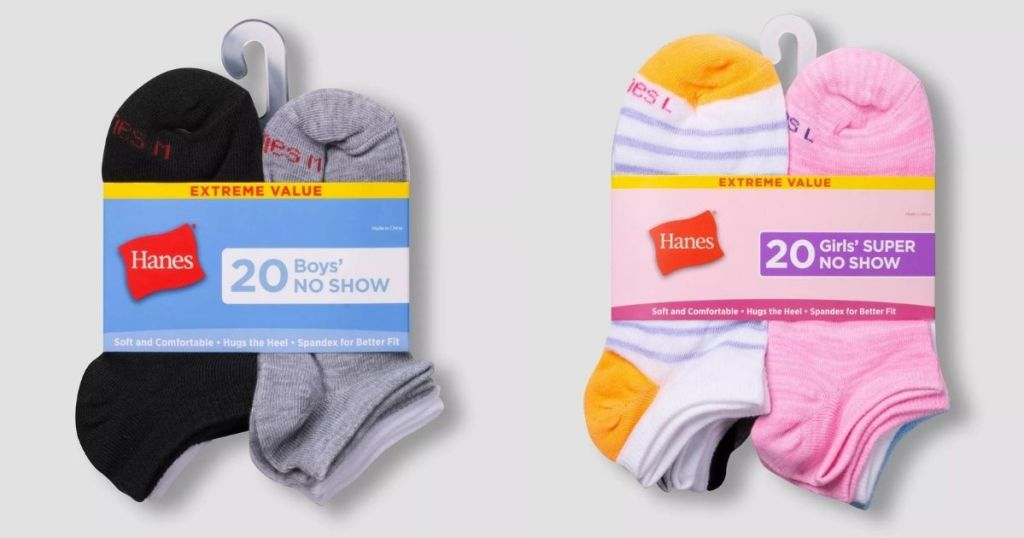 two sets of socks