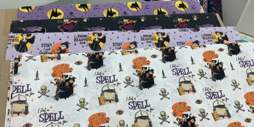 Disney Hocus Pocus Fabric from $7.79/Yard at JOANN | With In-Store Pick-Up