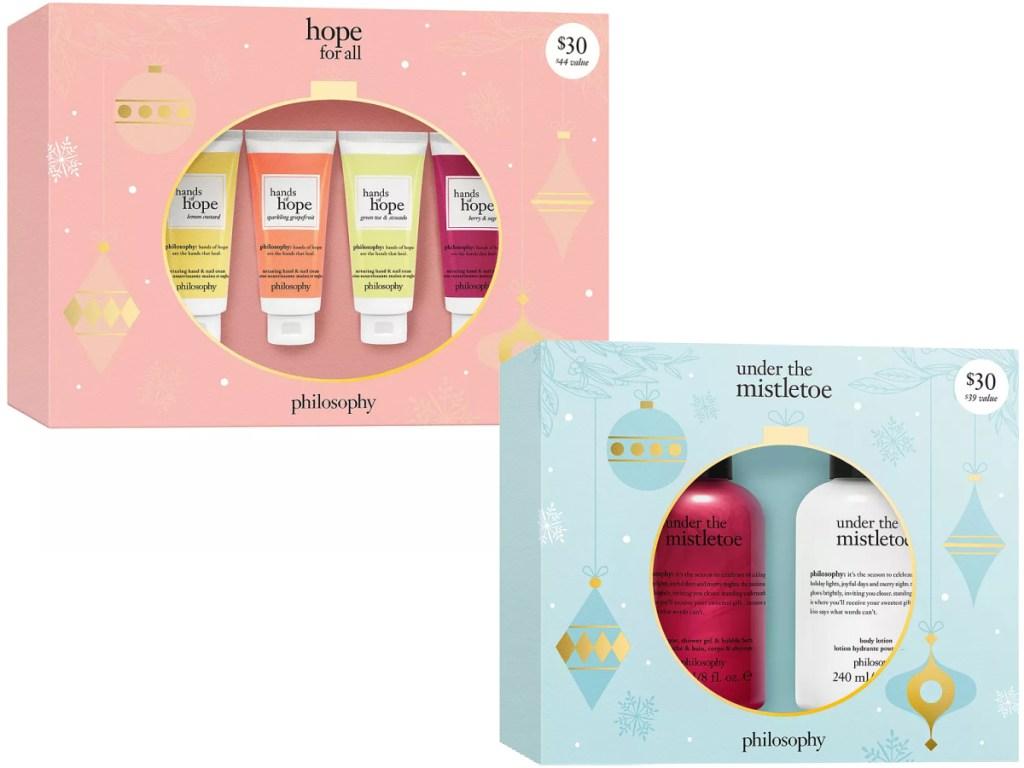 Hope For All Hands of Hope Gift Set and Under the Mistletoe Shower Gel & Body Lotion Gift Set