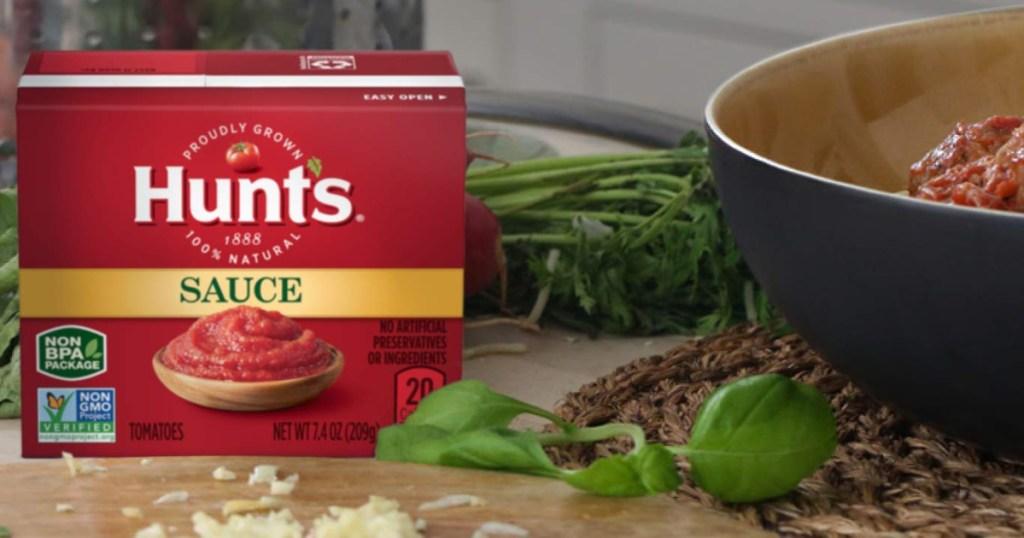 Hunt's tomato sauce box