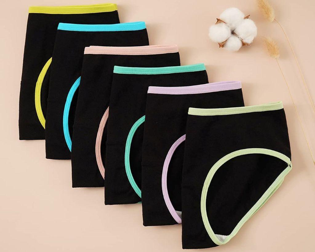 row of girls underwear