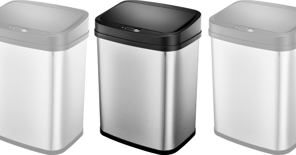 Insignia 3 Gallon Automatic Trash Can in Stainless Steel