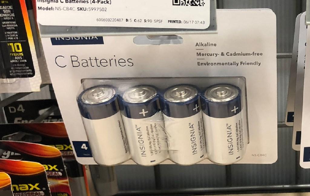 Insignia 4-Pack C Batteries