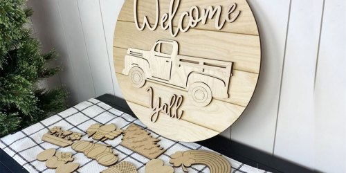 Interchangeable Wooden Welcome Sign Just $19.95 Shipped