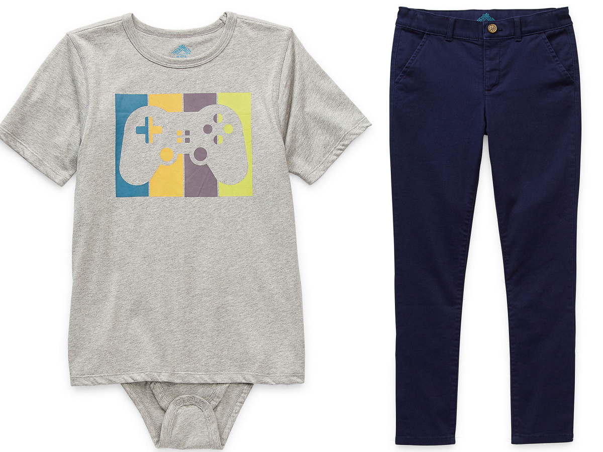 t-shirt body-suit and pants