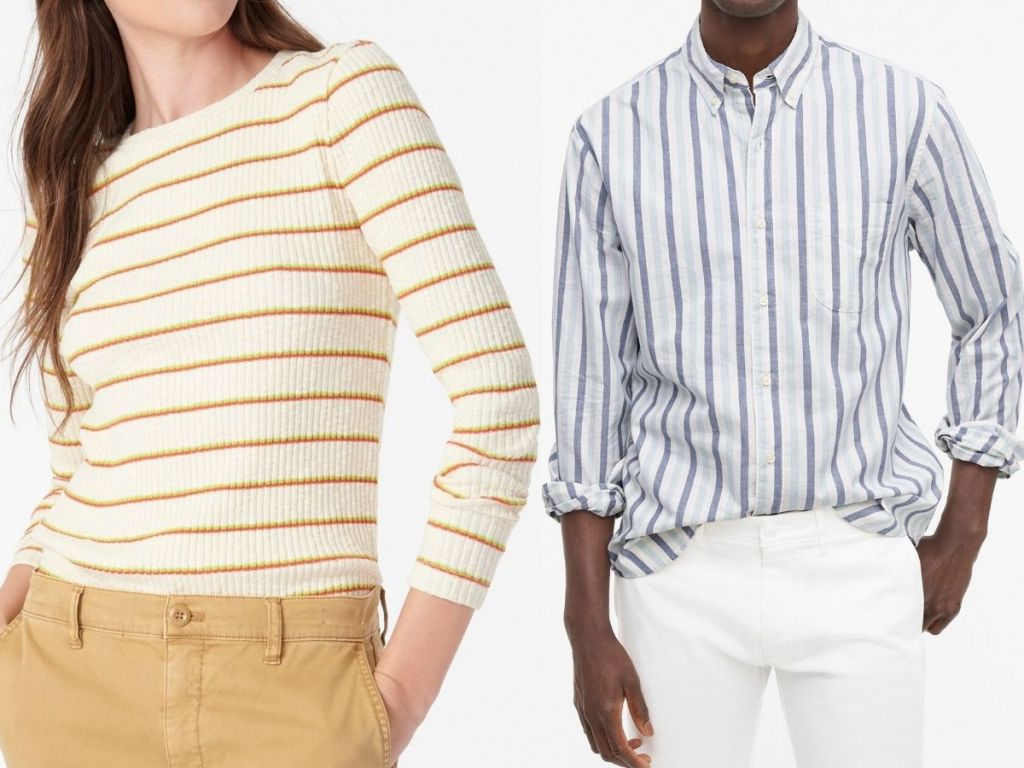 woman and man wearing J.Crew Clothing