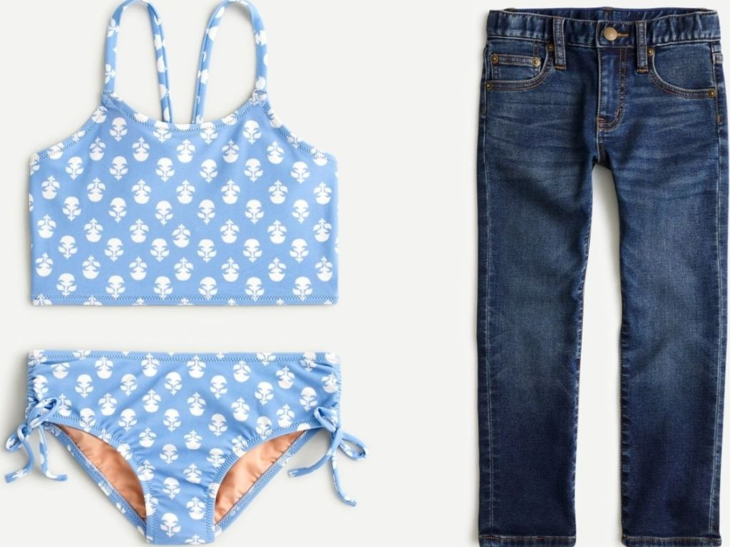 J.Crew kids bathing suit and jeans