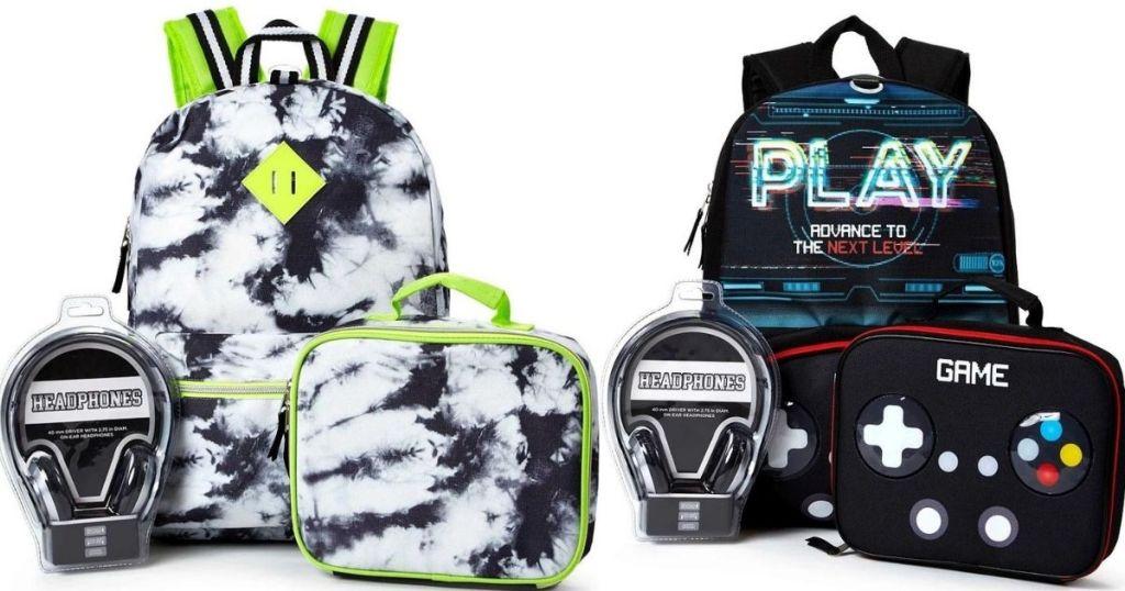 two kids backpacks