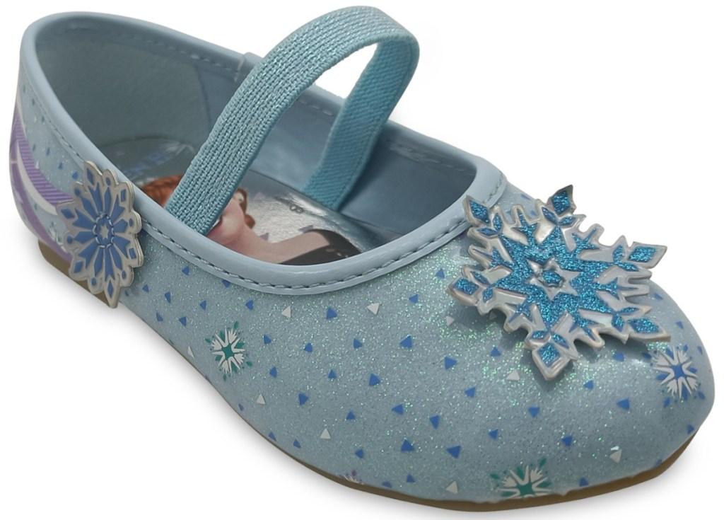 girls blue toddler flats