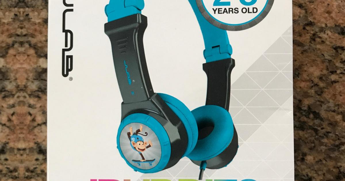 kids headphones in packaging
