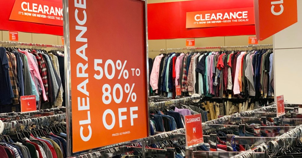 orange clearance sign at kohl's