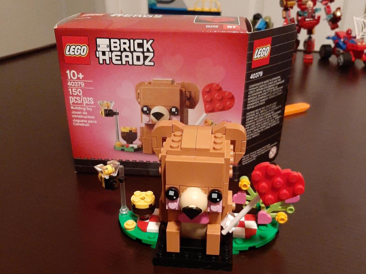 lego vaentine bear building set