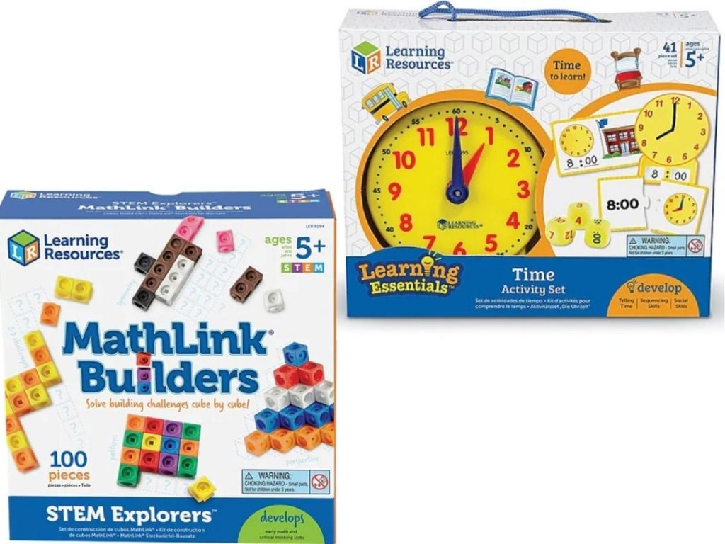 Learning Resources Math Builders and Time Activity Set